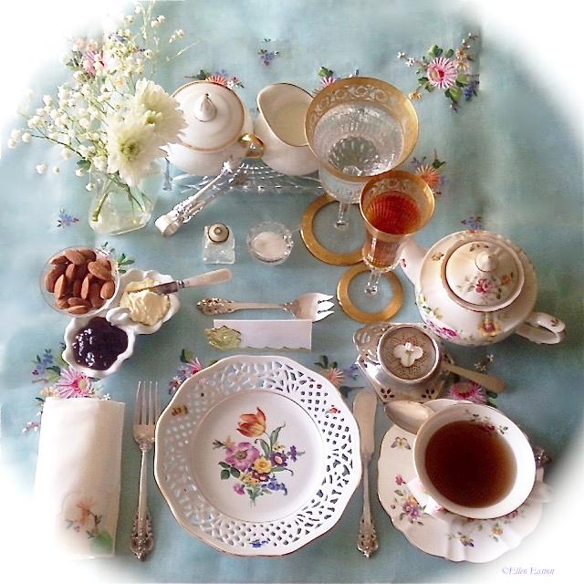 afternoon tea setup brighter