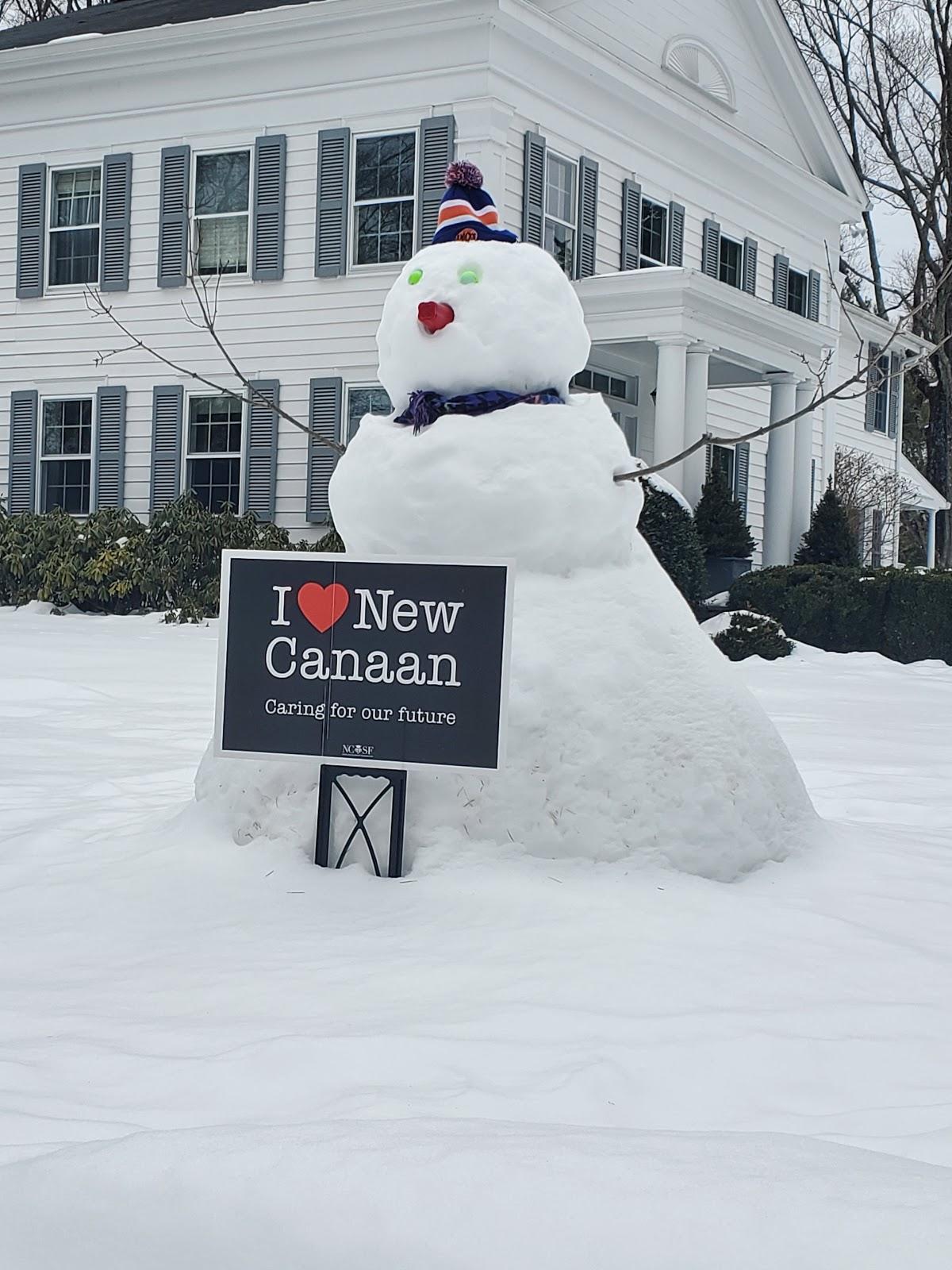 I Love New Canaan Snowman LiveNewCanaan
