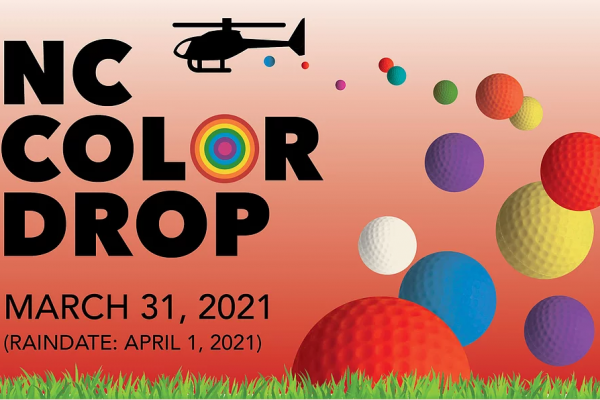 infographic for the New Canaan Color Drop being held on March 31 2021