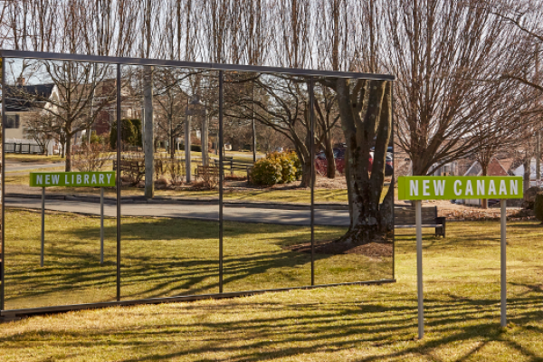 photo of the New Canaan New Library Mirror House