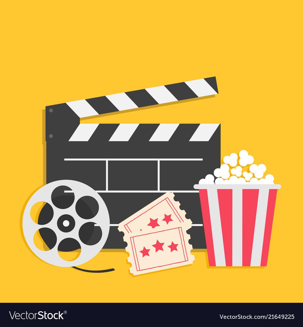 big movie reel open clapper board popcorn box vector 21649225 XhGecj.tmp